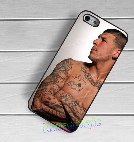 aaron hernandez and his tattoo original cell phone case cover for iphone 4 4s 5 5s 5c 6 6 plus 6s 6s plus #qv16(China (Mainland))
