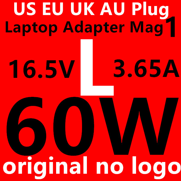 "Original no logo 60W tip Power Adapter Charger for Magsafe1 MacBook and Pro 13"" Before June 2012 US/EU/AU/UK Plug Laptop Adapter(China (Mainland))"