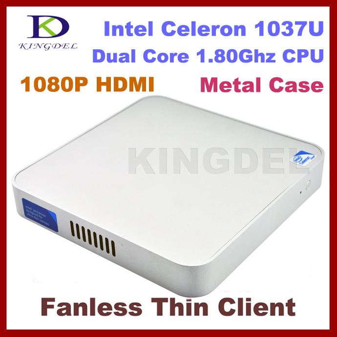 Terminal Mini PC Fanless thin client with Dual core Intel Celeron 1037U 1.8Ghz,HDMI, Windows 7,3D Game Computer(China (Mainland))