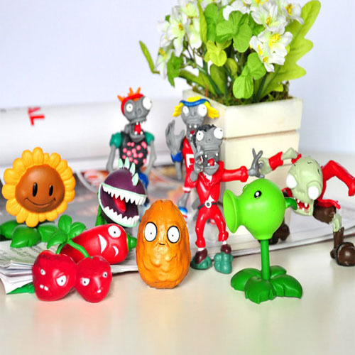 10 Pcs Anime Toy Figure Plants VS Zombies Set Game Miniature Pvc Action Figures Hot Kids Baby Toys Gift For Boys Girls Children(China (Mainland))