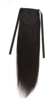 "Wholesale-price,Silky straight,22"" 80G blended Hair Ponytail Hair extensions  #1B natural black , free shipping"