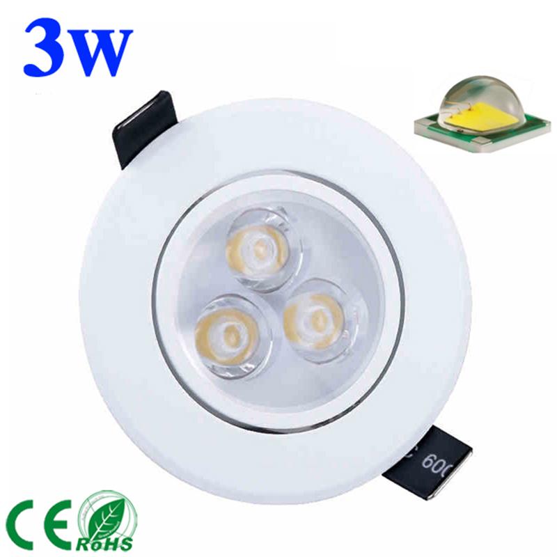 free shipping 3W 5W 7W led Ceiling Light spotlight AC85-265V CREE LED downlight lams white shell cool warm white light(China (Mainland))