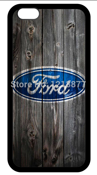 Free Shipping Unique Design Ford design on wood background For iphone 6 and 6 plus Protective rubber cell phone cover Case(China (Mainland))
