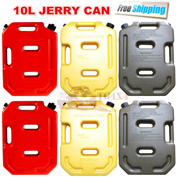 10Litre Red Jerrycan Plastic Fuel Tank Spare Petrol Oil Jerry Can Car Motorcycle Atv Suv Utv Gasoline Storage Tanks Jerri Cans(China (Mainland))