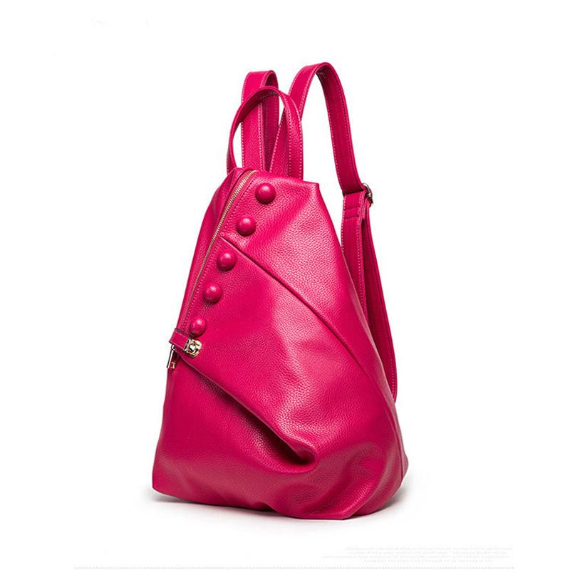 2016 Waterproof  Leather Bags Restore Ancient Ways Travel Backpack Women Bag Black Women High School Students Mochila<br><br>Aliexpress
