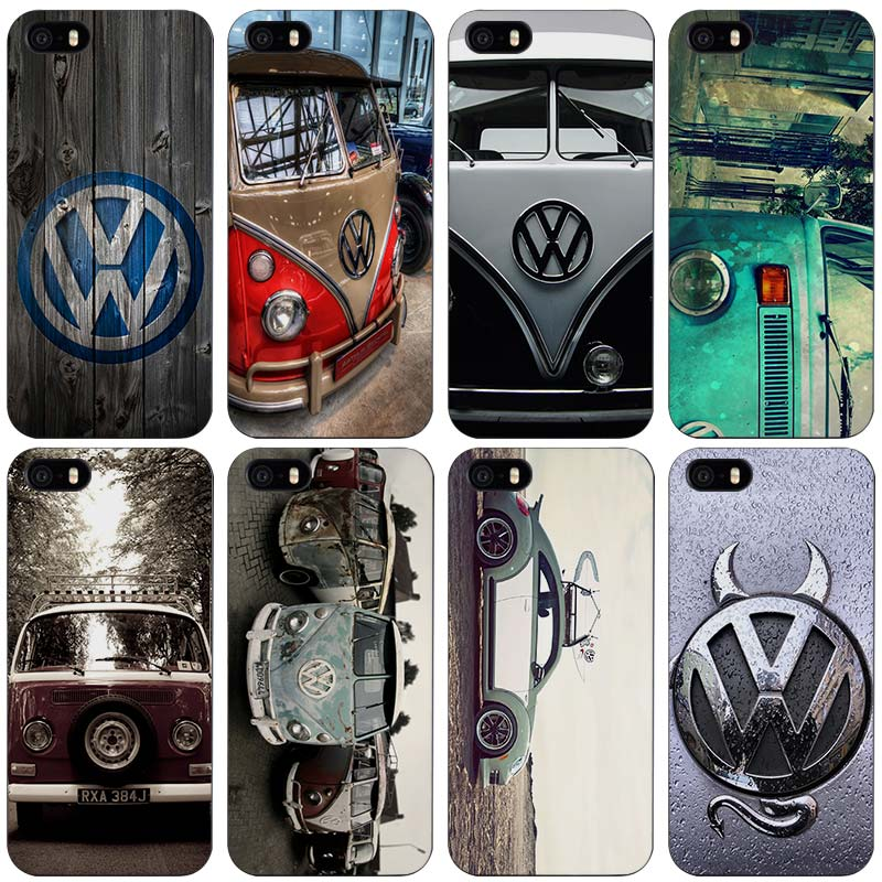 Volkswagen vw bus Black Plastic Case Cover Shell for iPhone Apple 4 4s 5 5s SE 5c 6 6s 7 Plus(China (Mainland))