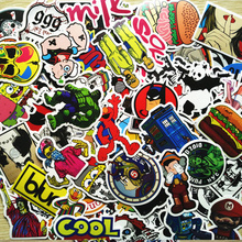 Buy Lot 200 PCS Pack Random Car Sticker Skateboard Luggage Laptop Guitar Travel Case Cute Stickers Fashion Funny Sticker for $8.99 in AliExpress store