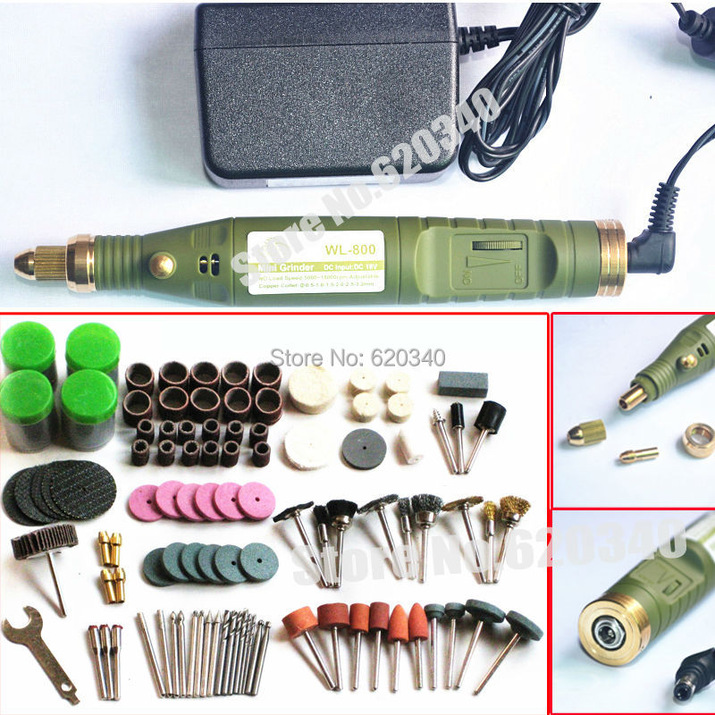 FreeShipping Mini electric drill 161pcs grinding accessories adapter Multifunction Engraving machine Electric tool set kit