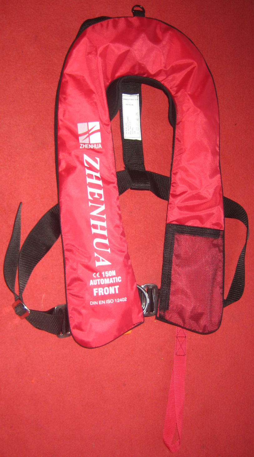 Free Shipping ISO12402-3 approved Automatic inflatable life jacket PFD marine lifejacket inflate lifejacket 150N buoyancy(China (Mainland))