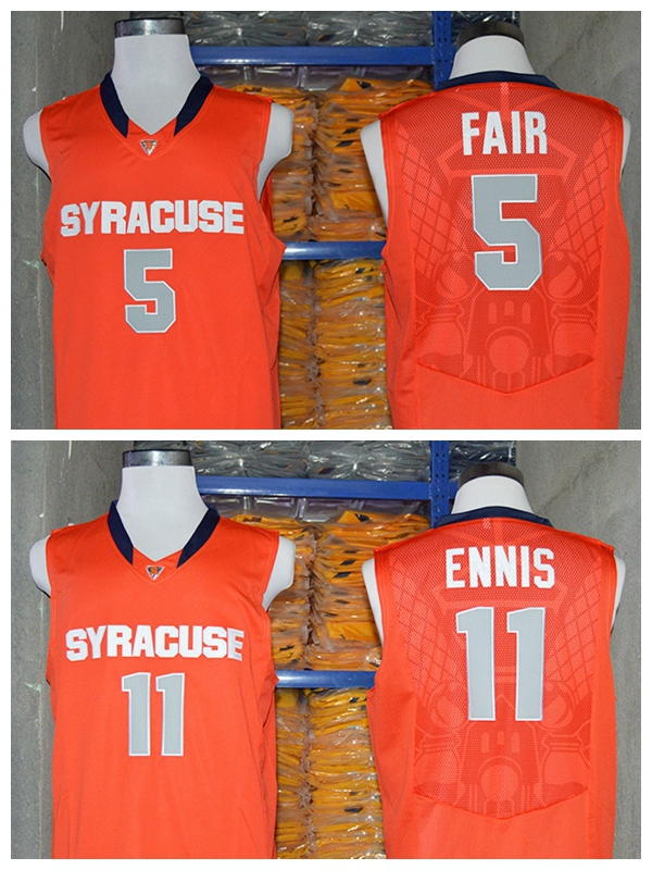 C.J. Fair Tyler Ennis Syracuse Orange Jersey,NCAA Syracuse Orange #5 C.J. Fair #11 Tyler Ennis Jersey,College Basketball Jerseys(China (Mainland))