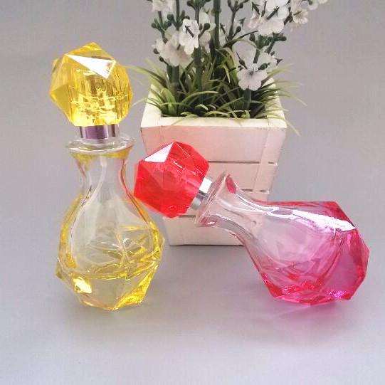 100pcs wholesale cheap 30ML glass perfume bottle with gem cap ,30 ml empty glass spray bottle , 2 oz glass perfume bottle