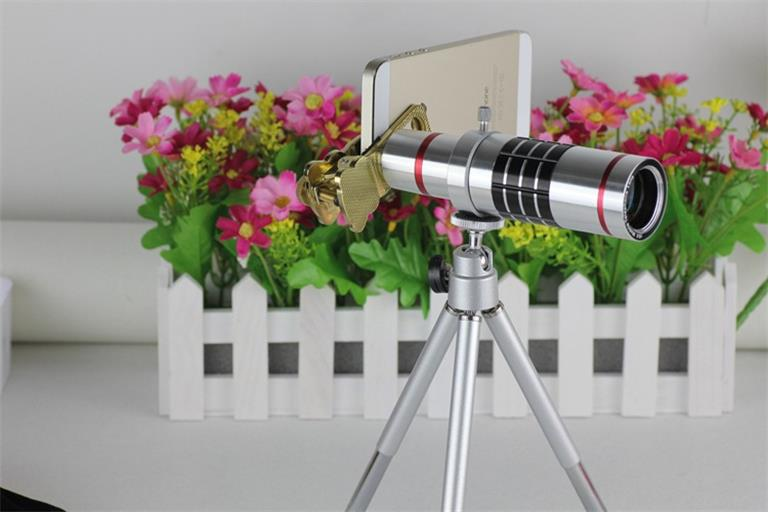 18x Vision shot Manual Focus External Cell Phone Camera Lens Mini Telescope Mobile Phone Telephoto Lens With Universal Clip(China (Mainland))