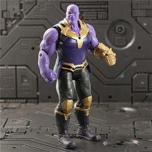 Super Heróis Vingadores Thanos 4 Endgame Articulações Móveis pantera Negra Spiderman Figuras de Ação Brinquedos Infantis Presentes para o Menino 17 cm(China)