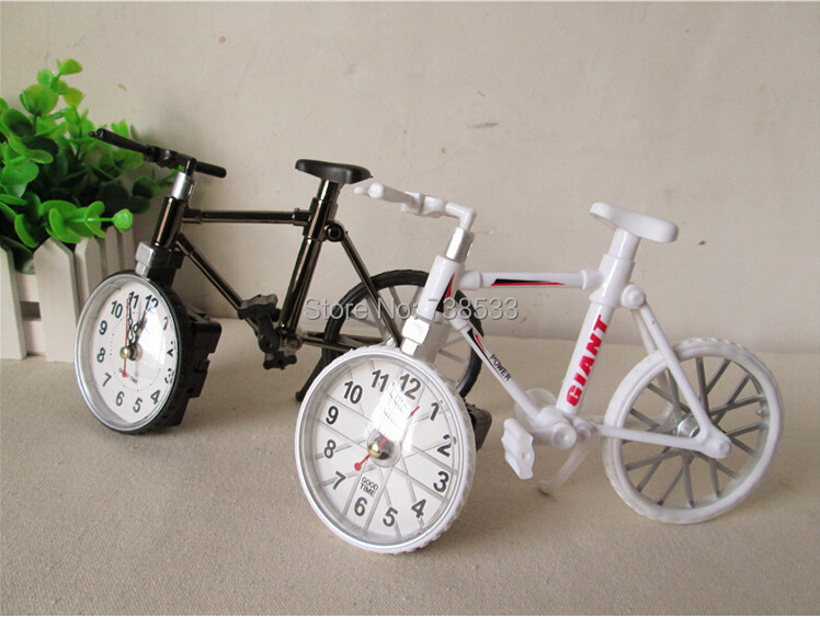 Bicycle Alarm Clock Creative Fashion Children Bike Table Clock Cycling Model Novelty Households Practical Gifts Watch Desktop(China (Mainland))