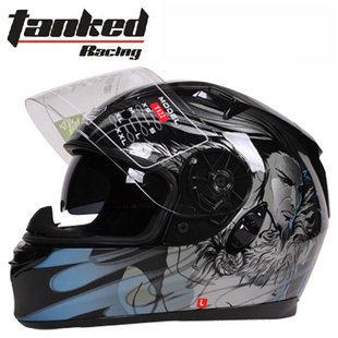 free shiping Tanked Racing motorcycle helmet helmet double lens helmet full face helmet(China (Mainland))