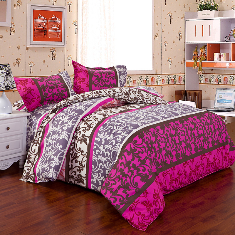 2016 new design reactive print 3 4pcs bedding sets