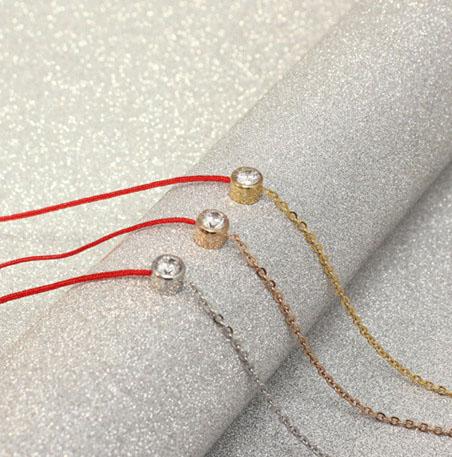 2015 New Design 100% Titanium Redline K Lucky Bracelets & Bangles Single Crystal Stainess Steel For Women Christmas Day Gift(China (Mainland))