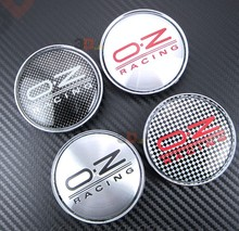 4pcs/lot Free shipping 66mm OZ car emblem Wheel Center Hub Caps Dust-proof Badge logo For bmw&VW car Wheel center cap styling