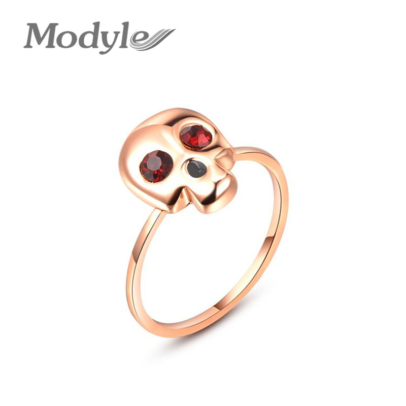 Modyle 18K Gold Plated Three Finger Rings Punk Skull Rings . TOP quality. Free shipping(China (Mainland))