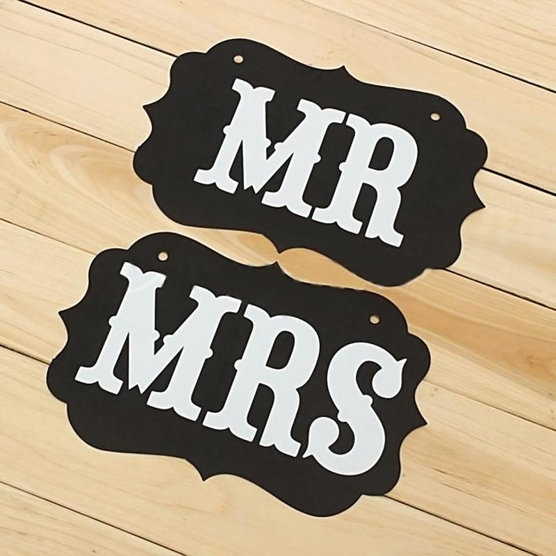 Mr Amp Mrs Wedding Banner Garlands Decoration Guess Bag