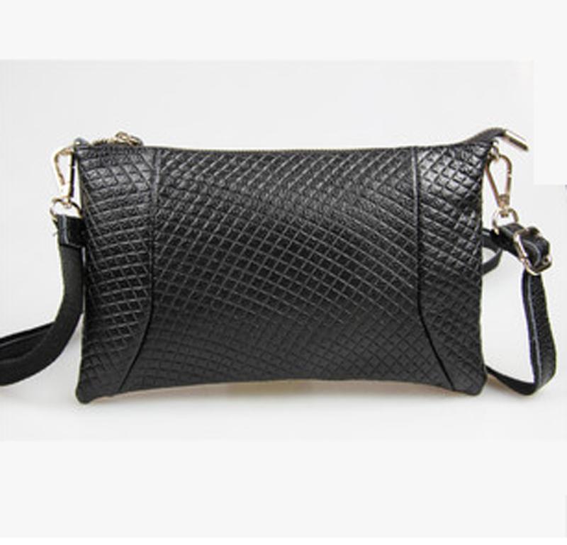 Women leather handbags of woven grain genuine leather bag woman single shoulder bag designer handbags high quality ladies bags(China (Mainland))