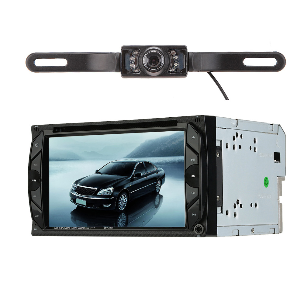 Universal 6.2 Inch Car Electronic Autoradio 2 din Car DVD CD Player for Volkswagen golf 5 opel astra h vw(China (Mainland))