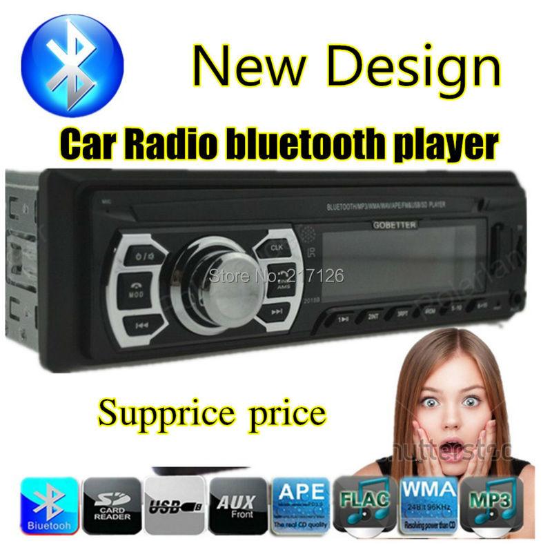New Car Radio bluetooth Stereo Player Bluetooth Phone AUX-IN MP3 FM/USB/1 Din/Remote Control car electronics in dash 12V Audio