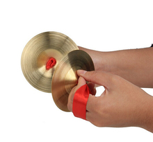 9cm Mini Small Kids Children Copper Hand Cymbals Gong Band Rhythm Beats Percussion Musical Instrument Toy(China (Mainland))