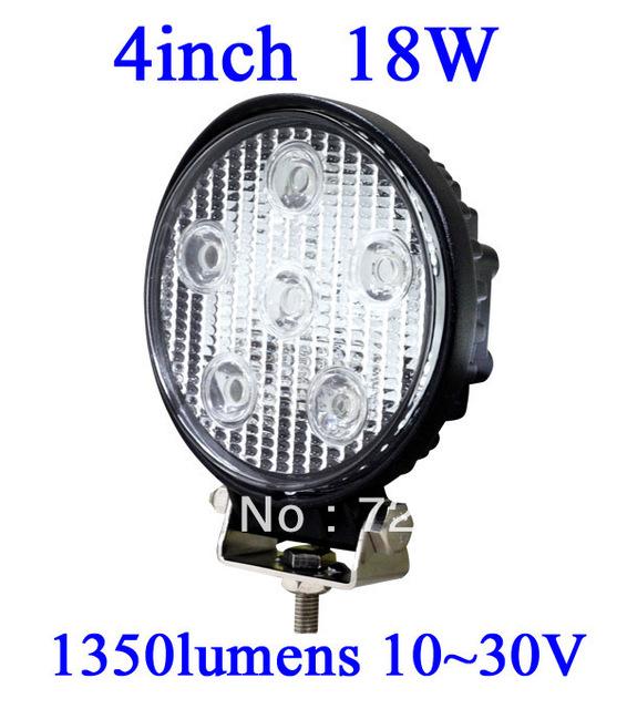 FOR JEEP 18W LED Work Light 1150 Lumen Offroad Driving Lamp 4inch   ATV,10-30V DC IP67 FLOOR BEAM cree led offroad led light