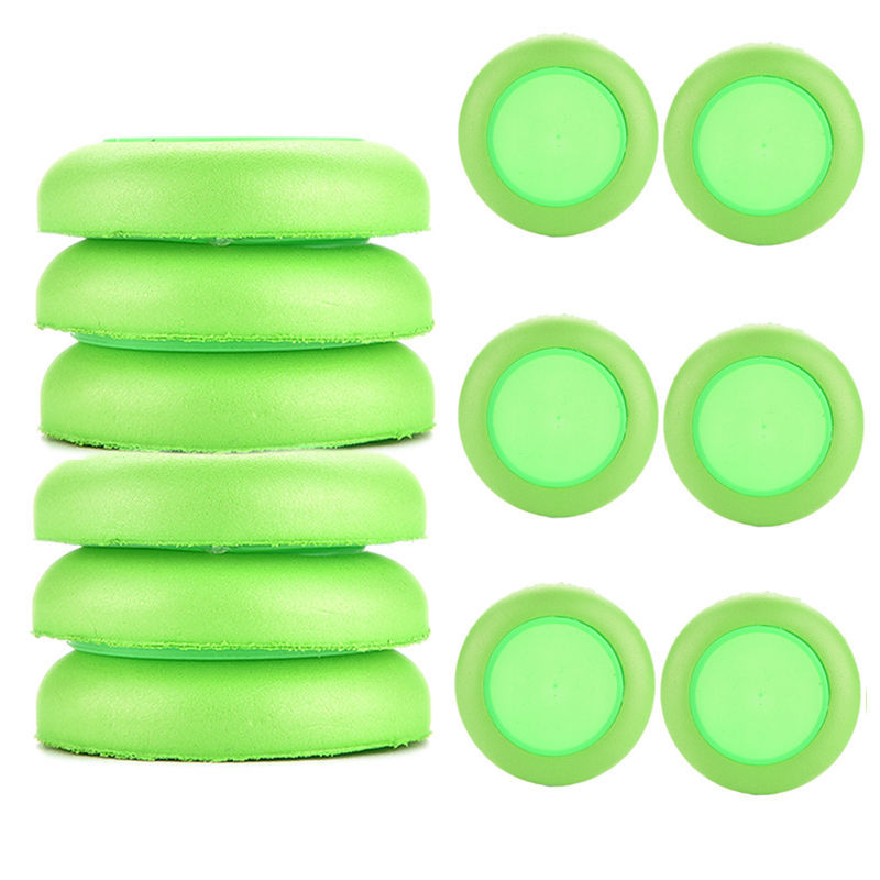 12pcs Green Discs Gun Vortex Praxis Flying Toy Bullet for Outdoor Game Frisbee(China (Mainland))