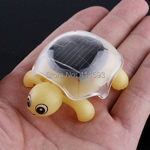Novelty Gifts for Children Solar Sun Power Energy Mini Solar Educational Toy Little Solar Tortoise Turtle Solar Toy(China (Mainland))