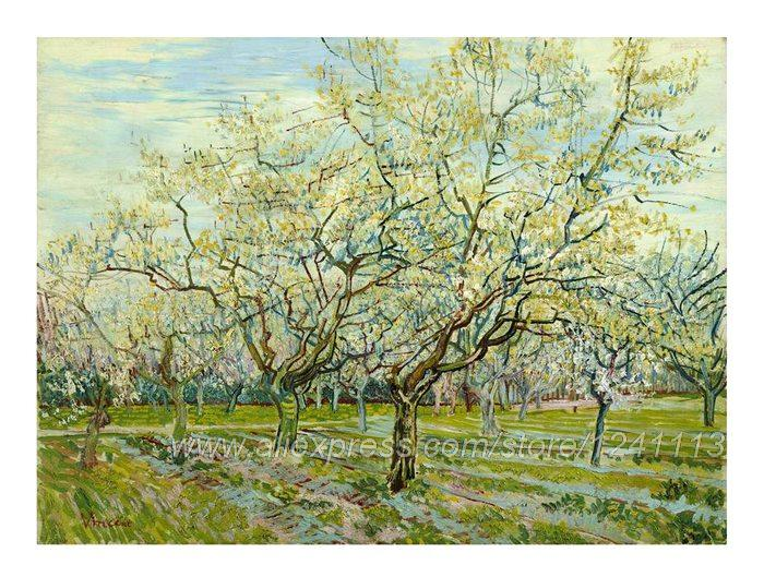 Pictures For The Wall Canvas Artwork Posters And Prints One Direction Po Vincent Van Gogh The White Orchard April(China (Mainland))