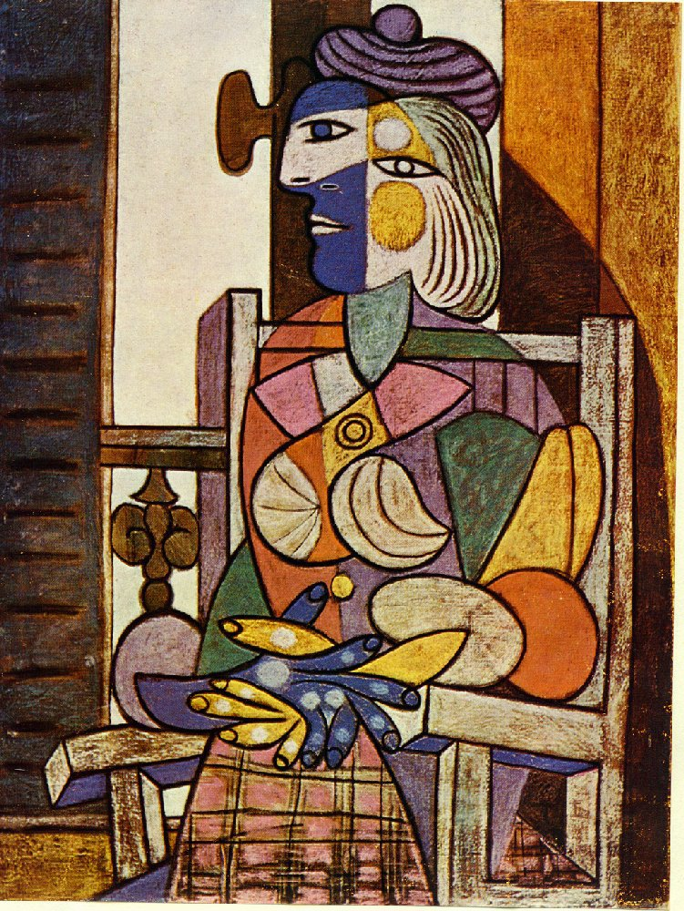 Pablo Picasso oil Painting Canvas,Seated portrait of marie therese walter,High quality,hand-painted, Abstract Art Reproduction(China (Mainland))