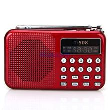 Retail-B 2014 Portable Digital Pocket LED Stereo FM Radio MP3 Music Player Speaker FS