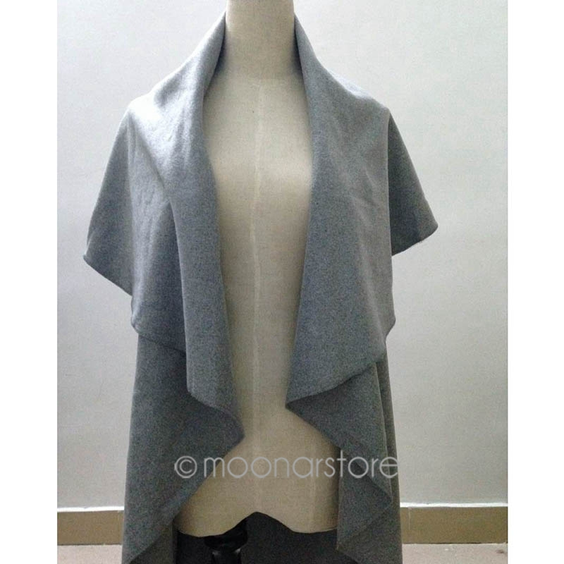 ladies poncho wrap scarves coat, Women's Woolen Coat, Elegant Cape/Shawl Free Shipping XE3215#S3(China (Mainland))