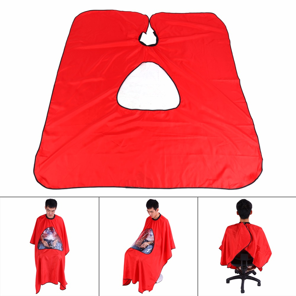 1PCS Hairdressing Cape Pro Salon Barber Hair Cutting Gown Cape With Viewing Window Hairdresser Apron Brand New Hot Capes(China (Mainland))