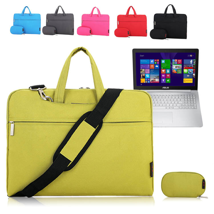 15'' 15.6 inch Laptop Shoulder Bag Messenger Sleeve Case Carrying Briefcase for ASUS ZenBook Pro UX501 Notebook + Accessory Bag