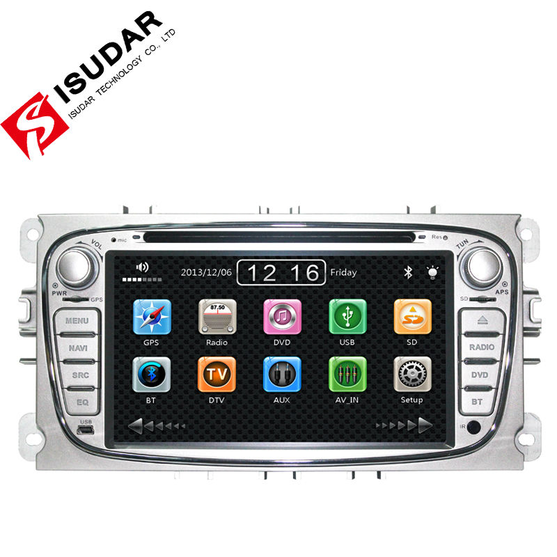 Two Din 7 Inch Car DVD Player For FORD/FOCUS 2 /MONDEO/S-MAX/CONNECT 2008-2011 With Wifi 3G Radio GPS RDS BT TV 1080P Ipod Maps(China (Mainland))