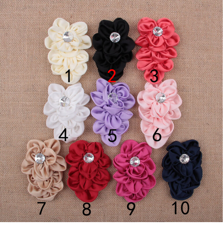 Good Quality 10 Color 10pcs/lot Fabric Brooch Girl's Children Hair DIY Hairpin Decoration Accessories(China (Mainland))