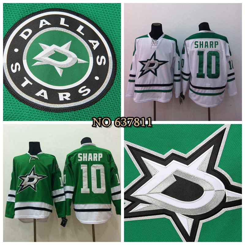 2016 Men's Dallas Stars Patrick Sharp Jersey Team Color Home Green White Cheap Patrick Sharp Stitched Hockey Jersey China(China (Mainland))