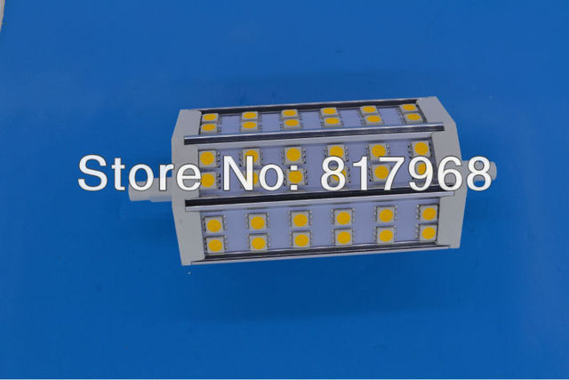 Free Shipping 118mm R7S Led Lamp 8W 36pcs Led Bulb 85-265V Energy Saving Dimmable or Non-dimmable