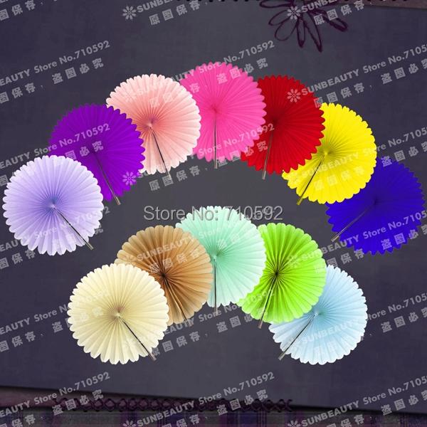 Wholesale 23cm Mixed Colours 800pcs Tissue Paper Fan Hanging Pinwheels Decoration Decorative Flower Party Home Wedding Decors(China (Mainland))
