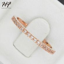 Top qualité or Concise classique CZ diamant anneau de mariage 18 K plaqué or Rose cristaux autrichiens gros R132 R133(China (Mainland))