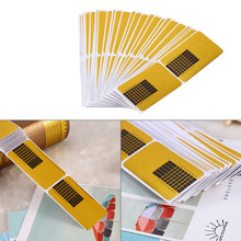 Top Sale 100 pcs Square Golden Nail Form Stickers Gel Tip Extension Nail Tools Nail Paper Holder Beauty Accessories(China (Mainland))