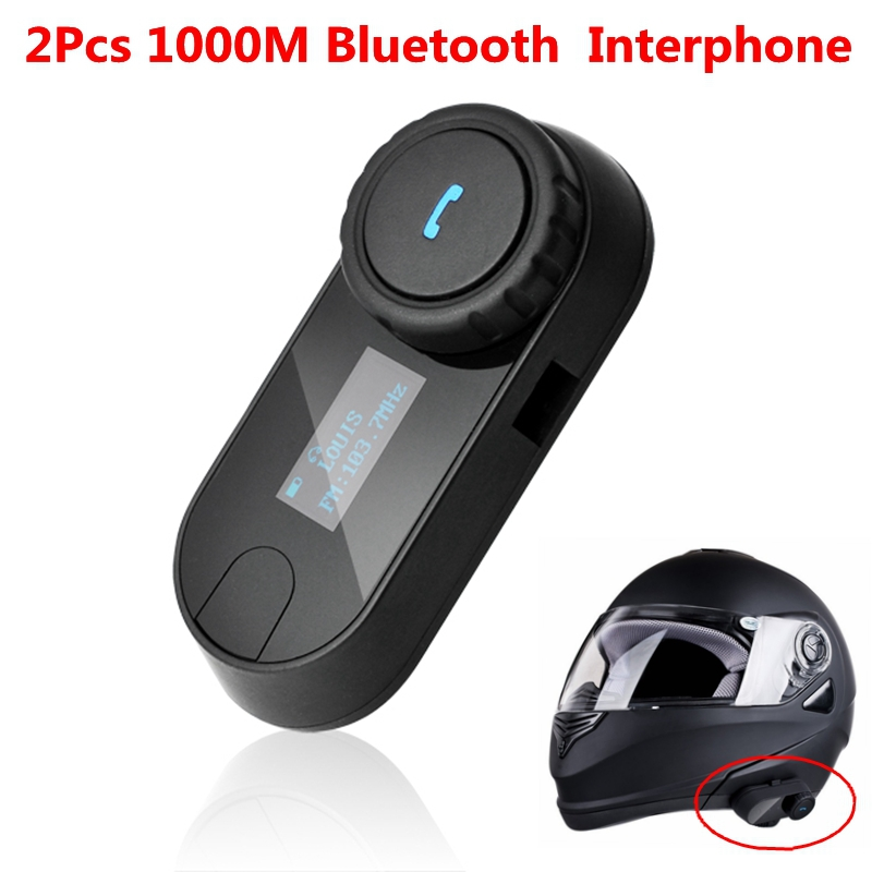 2 Pcs Lot BT 1000M Wireless Bluetooth Interphone