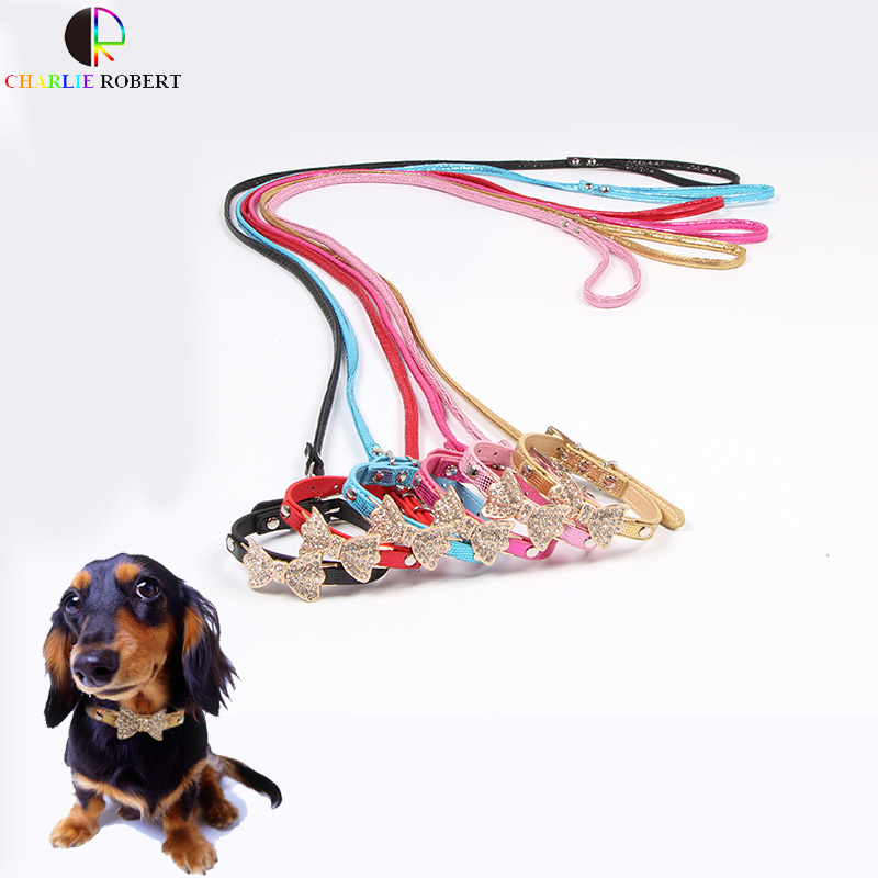 Super Bright Small Pet Dog Harness Rhinestone Dog Collar Serpentine Glossy Dog Leash Sets Best Goods For Pets Chihuahua hond(China (Mainland))
