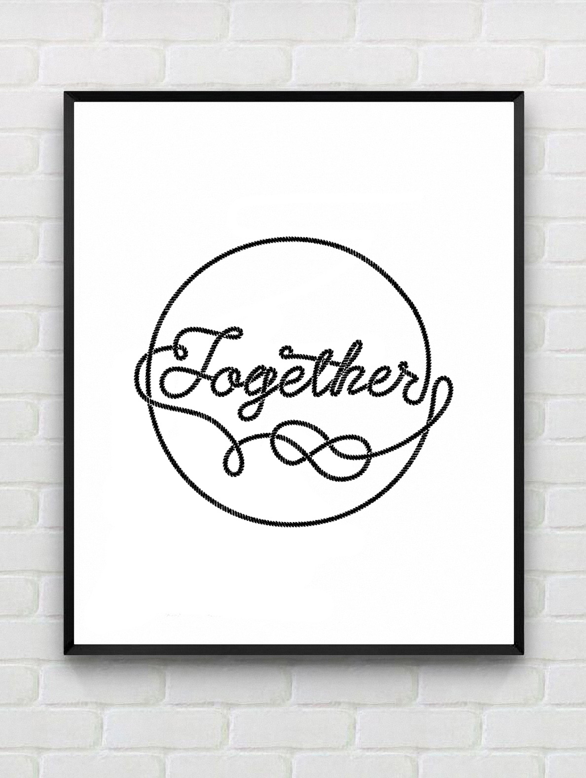 Modern poster painting home decor motivational for Living room 6 letters