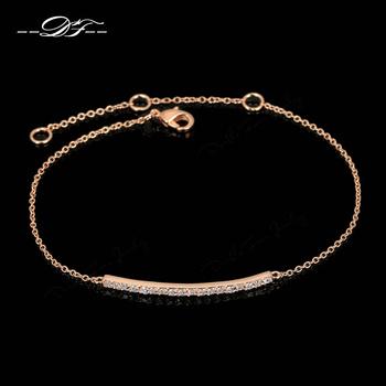 Cz алмаз микро-проложить мода браслеты и браслеты для женщин 18 К розового золота ...