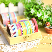 6 pcs slim washi tape British pattern masking tapes for DIY album scrapbook Deco adhesive stickers Stationery school supply 6872
