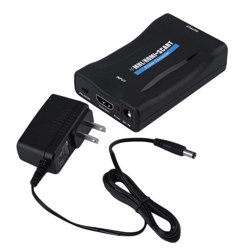 New HDV-60S Mini MHL/HDMI to SCART Video Converter Scaler for TV Smartphone 3 Plus Available US or UK or EU Wholesale hot new(China (Mainland))